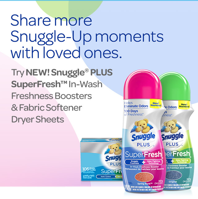 Share the love. Not The stink. New Super Fresh In-Wash Freshness Boosters